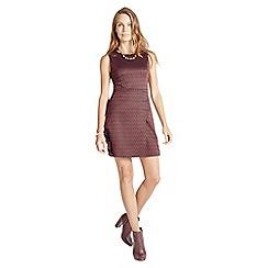 Apricot - Wine chevron print dress