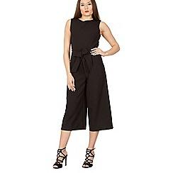 Izabel London - Black sleeveless culotte jumpsuit