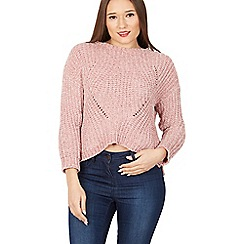 Izabel London - Pink boat neck knit jumper
