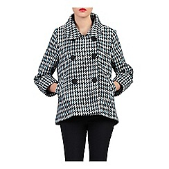 Jolie Moi - Blue houndstooth wool blended jacket