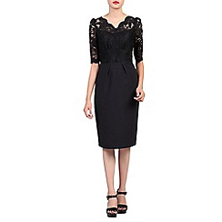 Jolie Moi - Black v neck lace dress