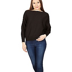 Izabel London - Black batwing knitted pullover