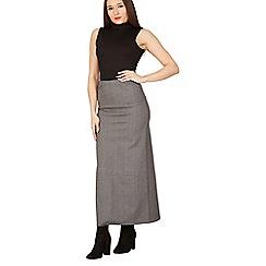 Izabel London - Grey plain maxi skirt