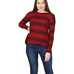 Izabel London - Red stripe print top