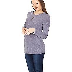 Izabel London - Purple zip detail zip top