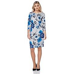 Roman Originals - Blue wooly printed dress
