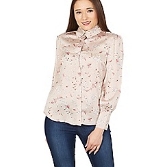 MISSTRUTH - Ivory floral print long sleeve blouse