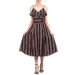 Jolie Moi - Black spaghetti straped frilly dress