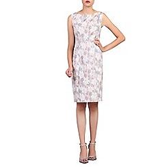 Jolie Moi - Grey floral jacquard shift dress