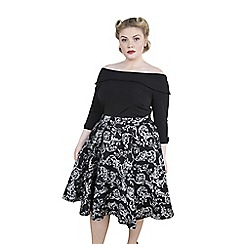 Emily - Black rebecca 50s round high waist skirt