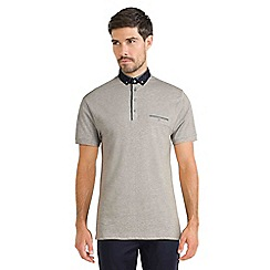 Steel & Jelly - Grey polo shirt with paisley collar