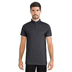 Steel & Jelly - Dark grey polo shirt with geo collar