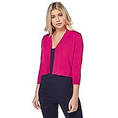 Roman Originals - Bright pink lace back shrug