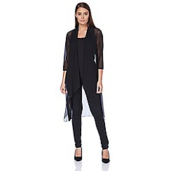 Roman Originals - Black mesh longline jacket
