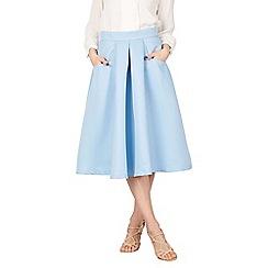 Jolie Moi - Blue pleated a line midi skirt