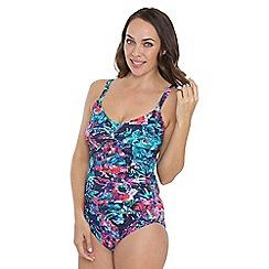Seaspray - Blue alina print high-back strapsuit