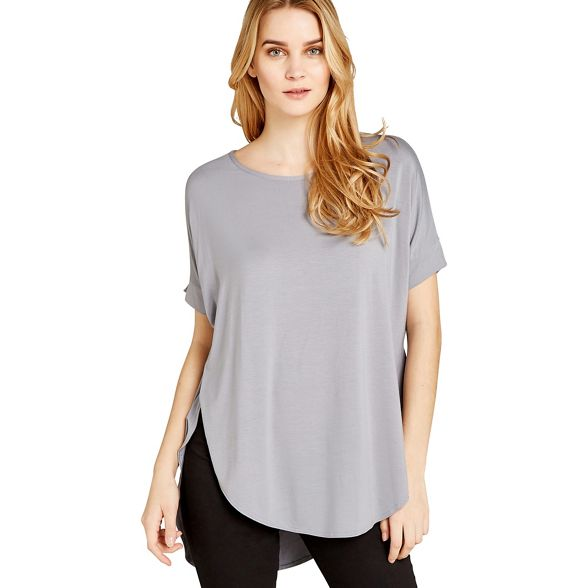 Apricot Apricot basic Grey oversized top Grey SSqUw5
