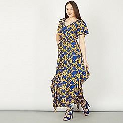 Izabel London - Blue asymmetric maxi dress