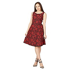 Solo - Red rosa lace dress