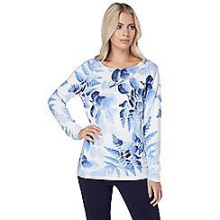 Roman Originals - Blue floral print jumper