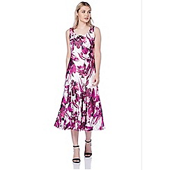 Roman Originals - Wine abstract floral dress