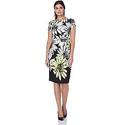 Roman Originals - Lime statement floral print dress
