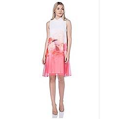 Roman Originals - Pink floral border print dress
