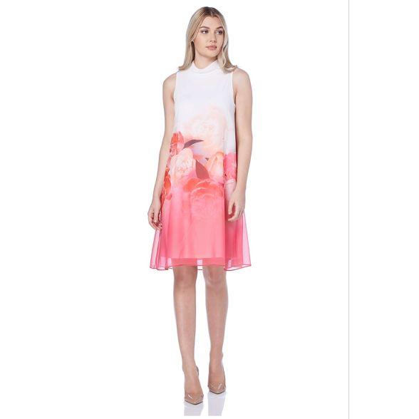 Roman Originals print Pink dress border floral R8xFnBqw