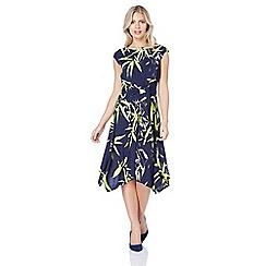 Roman Originals - Navy leaf print dress