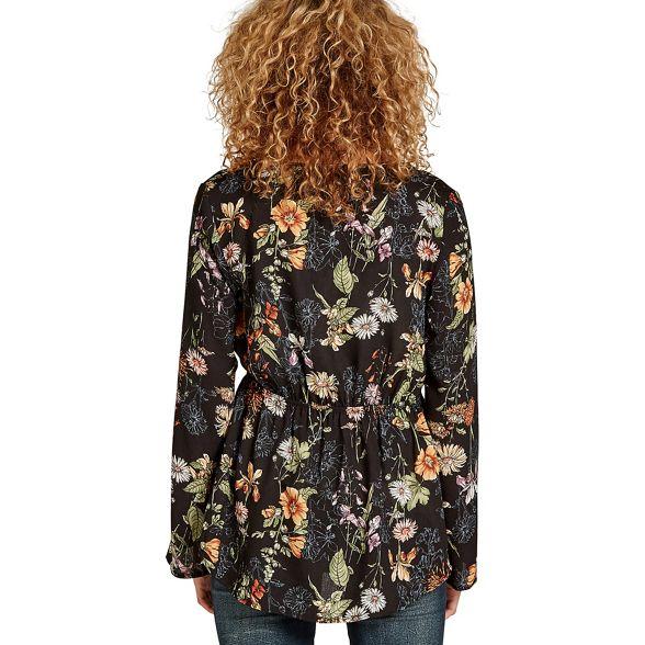 Apricot top print tie floral Black r8Iwx0qYvr
