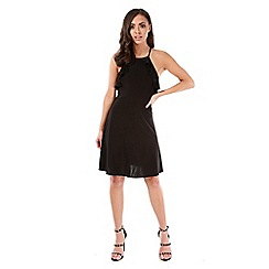 Be Jealous - Black frill strappy skater dress