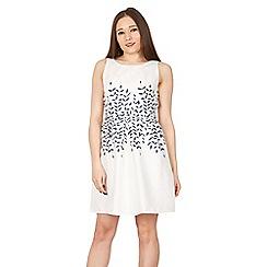 GOLDKID LONDON - White jacquard leaf cattern dress