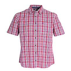 Bar Harbour - Red check short sleeve casual shirt