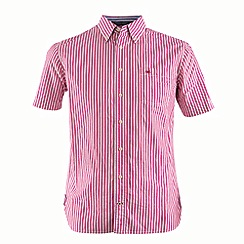 Bar Harbour - Red stripe short sleeve casual shirt