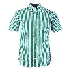 Bar Harbour - Green stripe short sleeve casual shirt
