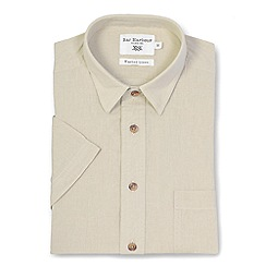 Bar Harbour - Cream linen blend short sleeve casual shirt