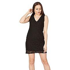 Apricot - Black lace shift dress