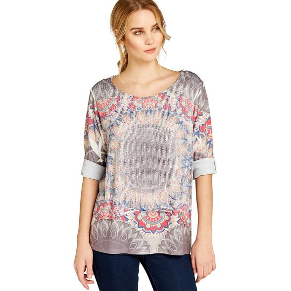 placement Apricot top oval Grey tribal ttwp7U