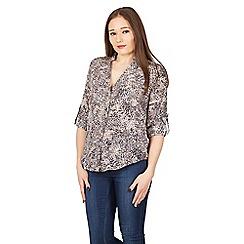 Apricot - Grey animal print shirt