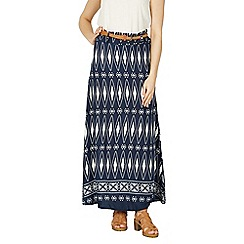 Izabel London - Multicoloured diamond print maxi skirt