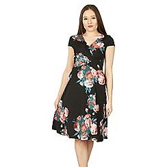 Izabel London - Multicoloured pleat front floral dress