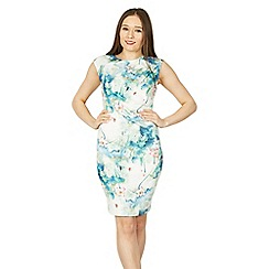 Izabel London - Light blue oriental floral bodycon dress