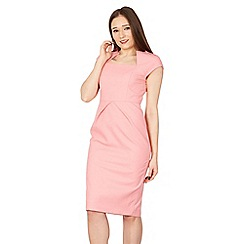 Jolie Moi - Pink fold detail bodycon dress