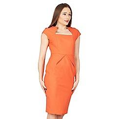 Jolie Moi - Orange fold detail bodycon dress