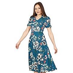 Jolie Moi - Multicoloured floral print bow detail tea dress