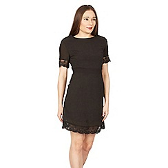 MISSTRUTH - Black lace trim chiffon dress