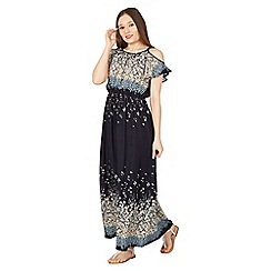 Izabel London - Blue midnight floral long dress