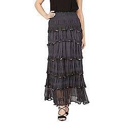 Izabel London - Dark grey ruffle maxi skirt