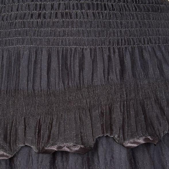 Izabel Dark ruffle maxi London skirt grey qBS1rawq