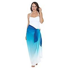 Seaspray - Blue aqua ombre pareo